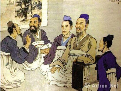 论语一章・讲学(国画・一九四三) 徐悲鸿