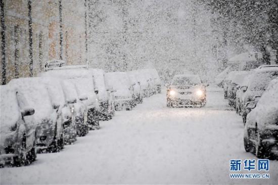 德国南部大雪