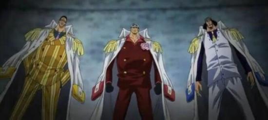 《海贼王》海军大将和四皇真是一个等级么?