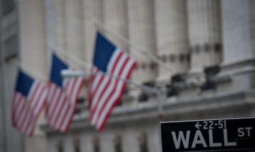 资料图片:美国华尔街。(图片来源:法新社)