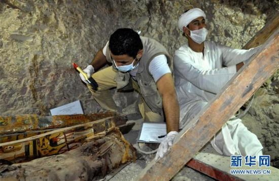 埃及考古发现3500年前古墓