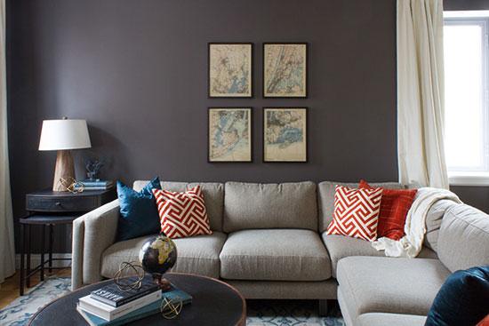 个性鲜明的公寓设计 深色彰显男性魅力