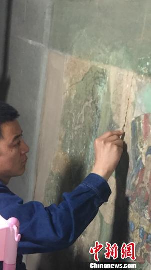 千年古刹隆兴寺明代壁画保护工程恢复修复预计年底完工