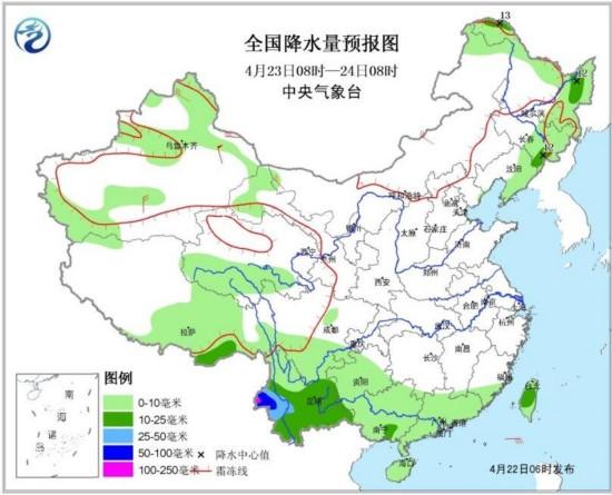 24至26日南方将有一次较强降水过程局地大暴雨