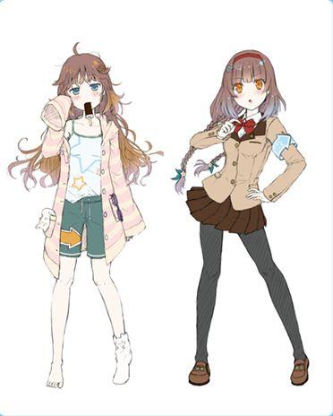 美世界拯救少女系列?日本用二次元萌妹子v世界表情包王字图图片