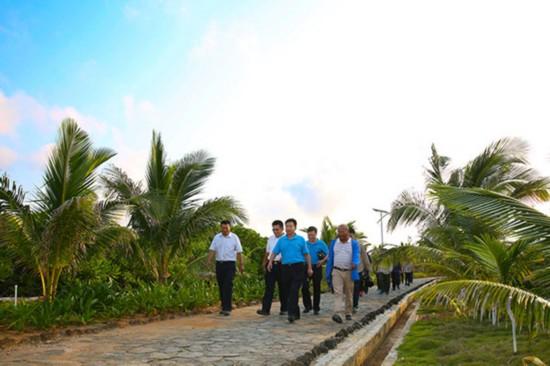肖杰在赵述岛调研时强调:广种树 多绿化