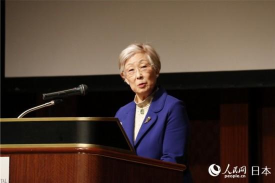 日本科学协会会长大岛美惠子致辞
