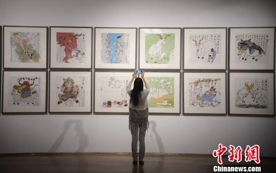 """黄永玉168幅生肖画集体亮相""""黄氏""""幽默再现长沙"""