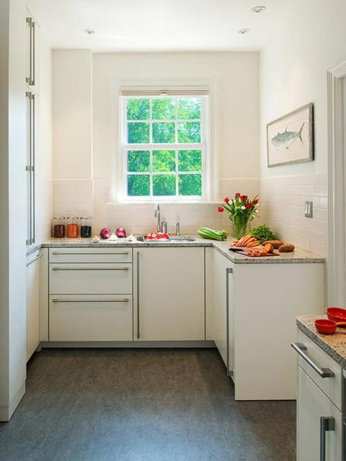 像那种三四十平米的超小户型,即使做成开放式厨房也很难为厨房开辟图片