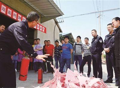 南通海门市消防安全演练进村入户