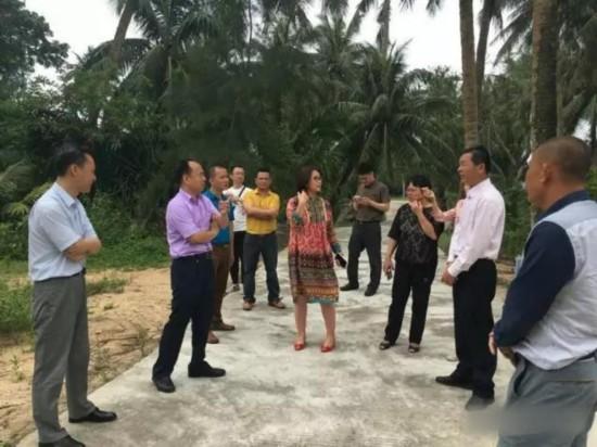 杨志斌、陈月花到山根镇调研美丽乡村建设