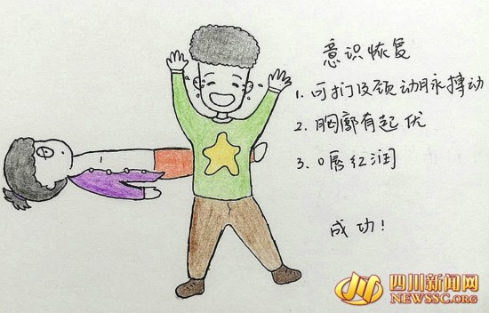 """自贡美女医生手绘q版漫画 科普急救知识成""""网红"""""""