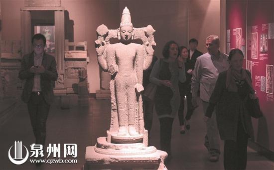 泉州大部分可移动文物收藏在博物馆及纪念馆中,图为泉州海交馆内的文物。