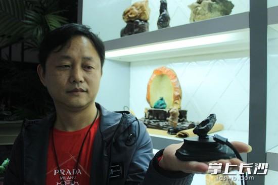 长沙男子十年收藏数千块奇石 欲建奇石博物馆