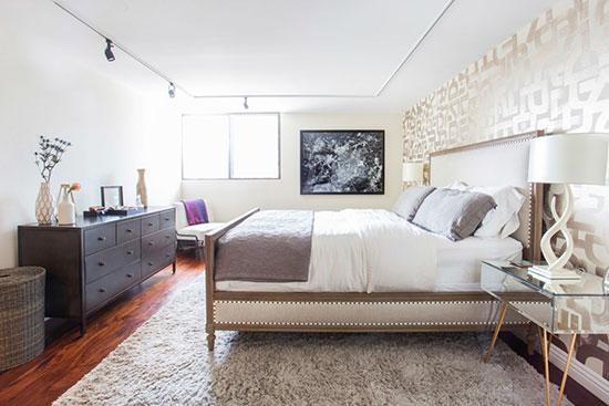 闹市中的宁静居所 白色系两居室公寓