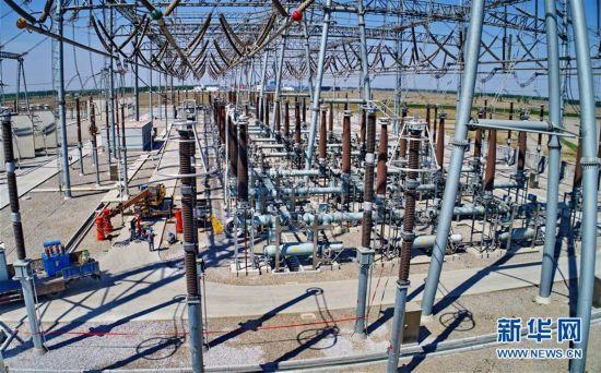 冀北首座高跨斜梁500千伏智能变电站即将投运