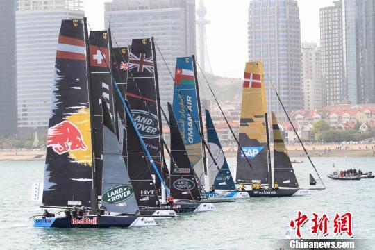 瑞士阿灵基队成功卫冕2017国际极限帆船系列赛青岛站