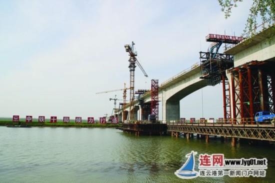 连镇铁路连云港段将于2018年7月完成主体工程