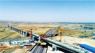 宁夏首条高铁特大桥顺利合龙