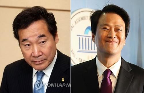 李洛渊(左)和任钟��(图片来源:韩联社)