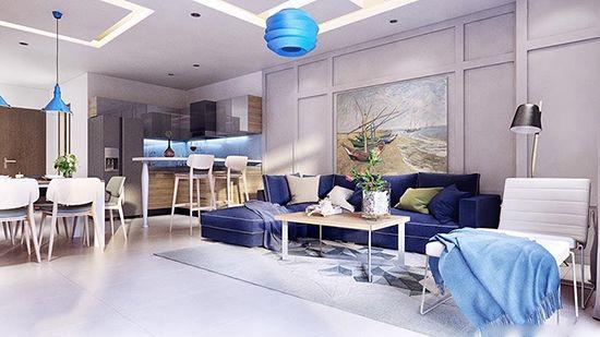 年轻活力假日风 美式风格明亮公寓
