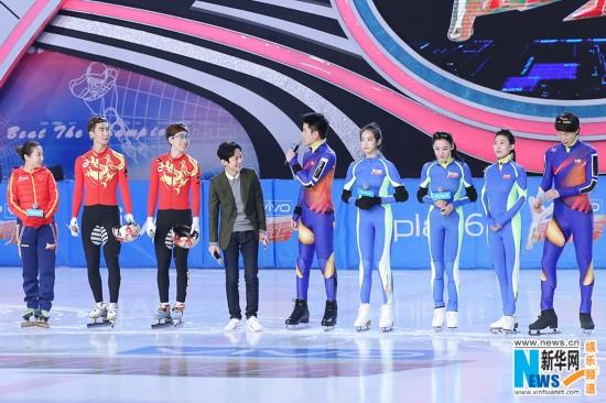 《来吧冠军2》挑战短道速滑 张柏芝冰面起舞