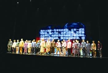 话剧《雨花台》巡演走进泰州 2400名师生观看