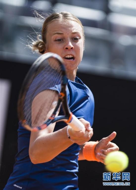 (体育)(3)网球――意大利公开赛:康塔维特晋级第三轮