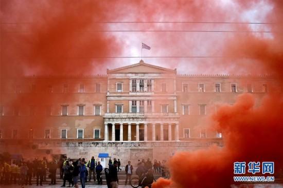 (外代一线)(1)希腊发生救助协议实施以来第50次总罢工