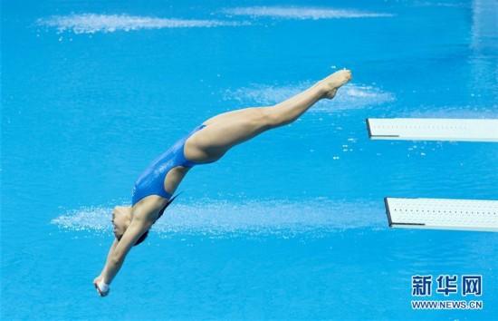 (体育)(1)跳水――全国冠军赛:王涵获女子一米跳板季军
