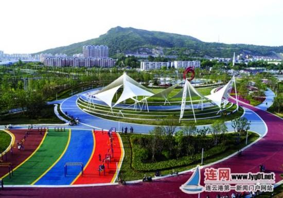 """连云港首个""""海绵城市""""主题公园对外开放"""