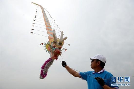 (体育)(1)陕西省首届全民健身运动会风筝项目比赛开赛
