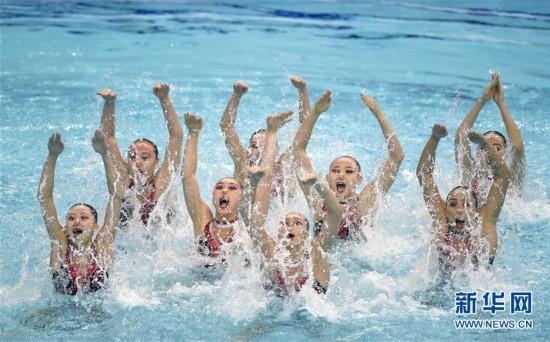 (全运会)(9)花样游泳――集体项目预赛赛况