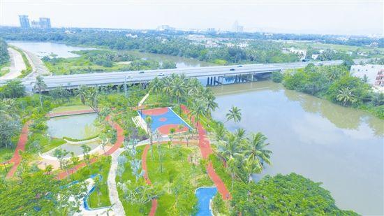 藤桥滨河公园即将建成开放