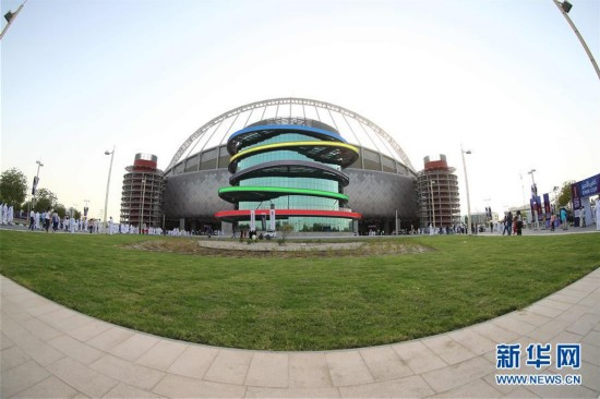 首个亮相的2022年卡塔尔世界杯场馆――哈里发体育场