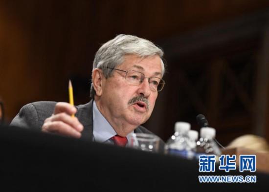 美国国会参议院批准艾奥瓦州州长为新任驻华大使