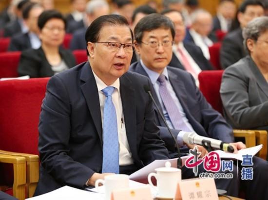 原香港基本法起草委员会委员谭耀宗发言 中国网 郑亮