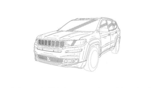Jeep神秘大型SUV专利图曝光 或为大瓦格尼