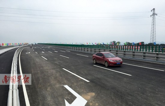 桂林市龙门大桥通车 创下当地桥梁史六个之最(图)