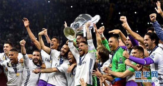足球——欧冠:皇马卫冕成功图片