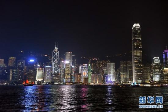 摄的维多利亚港夜景(5月26日摄).新华社记者 陈晔华 摄-从维多利图片