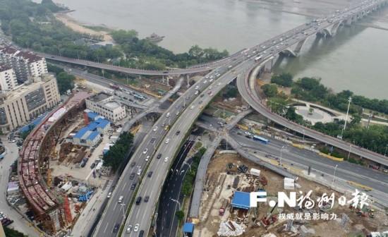 福州尤溪洲大桥北桥头3座天桥已完成主体建设 下月底投用
