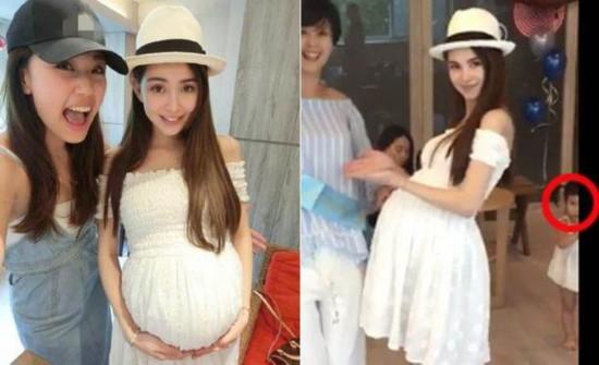 昆凌挺6月孕肚开派对 女儿小周周正面照疑似曝光