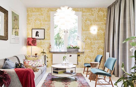 你家该换颜色了!多彩壁纸塑让老公寓生动明亮