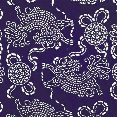 吴元新设计的蓝印花布纹样.
