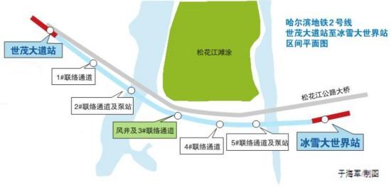 哈尔滨地铁2号线首条过江隧道开挖 明年11月底实现洞通
