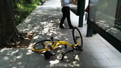深圳破获骑行共享单车肇事逃逸案:涉案车辆制动系统出现问题