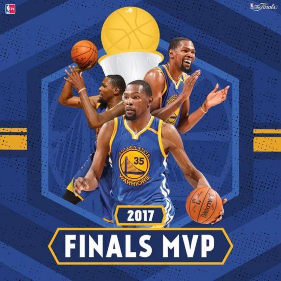 十年首冠!凯文-杜兰特当选总决赛MVP