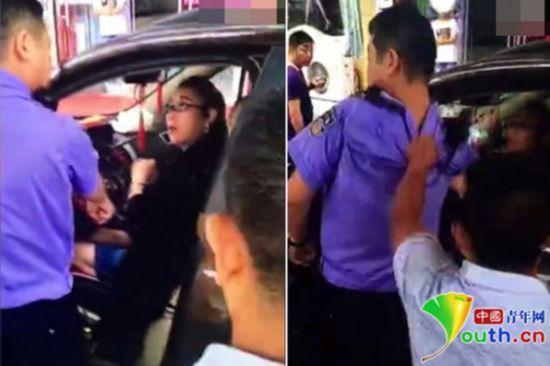 违停女司机抢夺警方设备殴打交警 称想要多少钱你讲