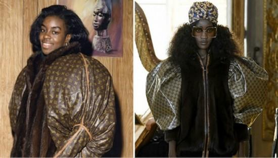 左为Dapper Dan在1980年代的设计,右为Gucci 2018早春度假系列 图片来源:Highsnobiety